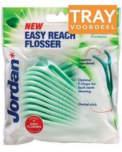 JORDAN EASY REACH FLOSSER FLOSSERS TRAY 8 X 25 STUKS