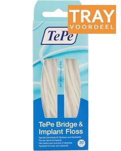 TEPE BRIDGE & IMPLANT FLOSS FLOSSDRAAD VOOR IMPLANTATEN TRAY 10 X 30 STUKS