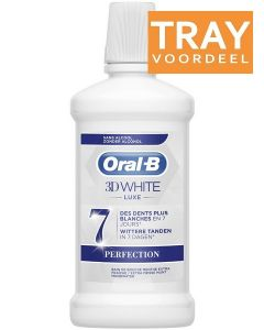 ORAL-B 3D WHITE LUXE PERFECTION MONDWATER TRAY 6 X 500 ML