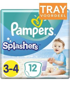 PAMPERS SPLASHERS 3-4 ZWEMLUIERS TRAY 8 X 12 STUKS