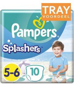 PAMPERS SPLASHERS 5-6 ZWEMLUIERS TRAY 8 X 10 STUKS