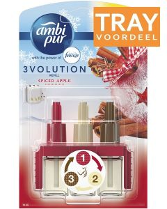 AMBI PUR 3VOLUTION SPICED APPLE ELECTRIC NAVULLING TRAY 6 X 20 ML