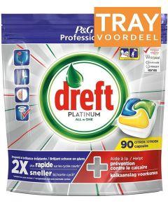 DREFT PLATINUM ALL IN ONE VAATWASTABLETTEN CITROEN TRAY 2 X 90 STUKS