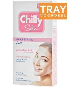 CHILLY SILX HARSSTRIPS FACE GEVOELIGE HUID DOOS 24 X 20 STUKS