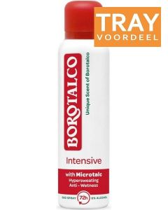 BOROTALCO INTENSIVE DEODORANT SPRAY TRAY 12 X 150 ML