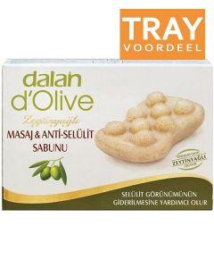 DALAN D'OLIVE OLIVE OIL MASSAGE & CELLULITE SOAP ZEEP DOOS 24 X 150 GRAM