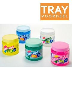 HEGRON STYLING GEL EXTRA STRONG (GEEL) TRAY 6 X 1000 ML