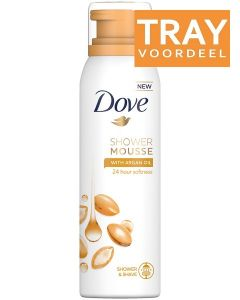 DOVE SHOWER MOUSSE WITH ARGAN OIL TRAY 6 X 200 ML