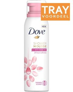 DOVE SHOWER MOUSSE WITH ROSE OIL TRAY 6 X 200 ML
