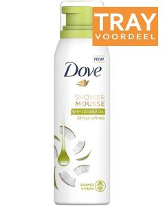DOVE SHOWER MOUSSE WITH COCONUT OIL TRAY 6 X 200 ML