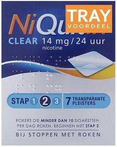 NIQUITIN CLEAR 14 MG NICOTINE PLEISTERS DOOS 24 X 7 STUKS