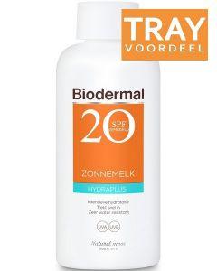BIODERMAL HYDRAPLUS SPF 20 ZONNEMELK ZONNEBRAND TRAY 18 X 200 ML