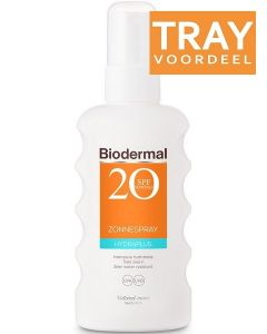 BIODERMAL HYDRAPLUS SPF 20 ZONNESPRAY ZONNEBRAND SPRAY TRAY 10 X 175 ML