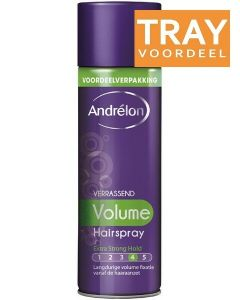 ANDRELON VERRASSEND VOLUME HAIRSPRAY HAARLAK TRAY 6 X 500 ML