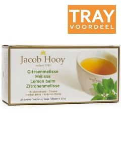 JACOB HOOY CITROENMELISSE THEE TRAY 12 X 20 ZAKJES