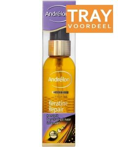 ANDRELON KERATINE REPAIR INTENSIEVE SERUM OIL SPRAY TRAY 6 X 75 ML