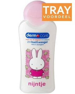 DERMO CARE 2 IN 1 BAD & WASGEL NIJNTJE TRAY 6 X 200 ML