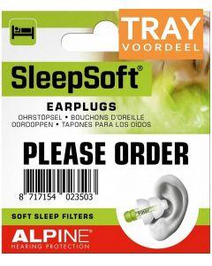ALPINE SLEEPSOFT EARPLUGS OORDOPJES TRAY 6 X 2 STUKS