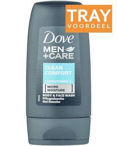 DOVE MEN+CARE CLEAN COMFORT BODY WASH DOUCHEGEL DOOS 32 X 55 ML