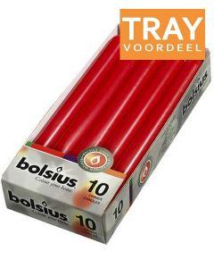 BOLSIUS DINERKAARSEN 230 X 20 MM (ROOD) TRAY 6 X 10 STUKS