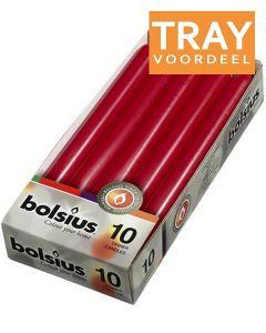 BOLSIUS DINERKAARSEN 230 X 20 MM (WIJNROOD) TRAY 6 X 10 STUKS