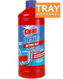 AT HOME DRAIN ACTIVE GEL AFVOER ONTSTOPPER TRAY 12 X 1000 ML