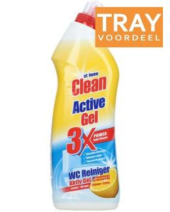 AT HOME CLEAN ACTIVE GEL WC REINIGER LEMON TRAY 12 X 750 ML