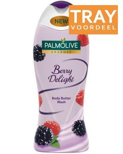 PALMOLIVE GOURMET BERRY DELIGHT BODY BUTTER WASH DOUCHEGEL TRAY 12 X 500 ML