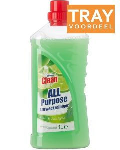 AT HOME CLEAN LIME & EUCALYPTUS ALLESREINIGER TRAY 12 X 1000 ML