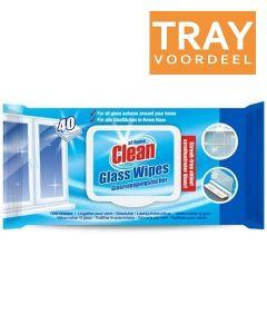 AT HOME CLEAN GLASDOEKJES TRAY 12 X 40 STUKS