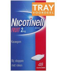 NICOTINELL FRUIT 2MG KAUWGOM BIJ STOPPEN MET ROKEN DOOS 36 X 48 STUKS
