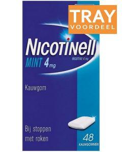 NICOTINELL MINT 4MG KAUWGOM BIJ STOPPEN MET ROKEN DOOS 36 X 48 STUKS